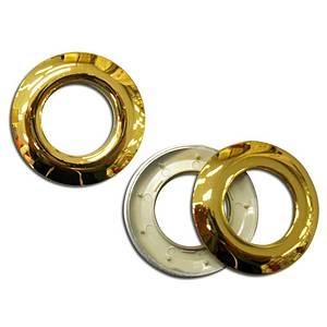 Oeillet clipsable doré brillant diamètre intérieur 25mm