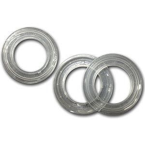 Oeillets clipsables transparent diamètre intérieur 40mm lot de 2