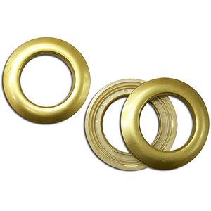 Oeillet clipsable doré mat diamètre intérieur 40 mm