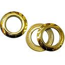 Oeillet clipsable doré brillant diamètre intérieur 40 mm