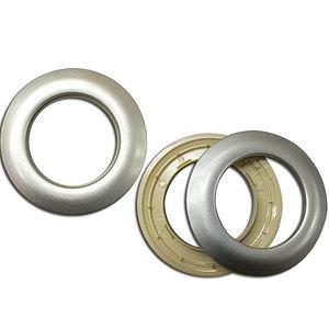 Oeillet clipsable argent mat diamètre intérieur 40 mm