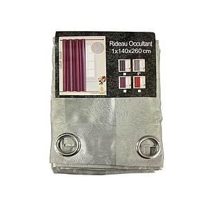 Rideau occultant Stamp Stripe gris clair