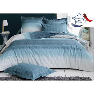 parure de draps percale james bleu canard lit 2 personnes de 140 cm fabrication fran aise marque. Black Bedroom Furniture Sets. Home Design Ideas