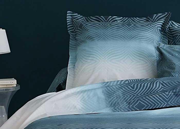 Parure de draps percale james bleu canard lit 2 personnes de 140 cm fabrication fran aise marque for Marque de drap de lit