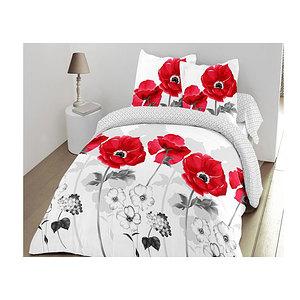 Parure de draps coquelicot rouge 160x200 cm