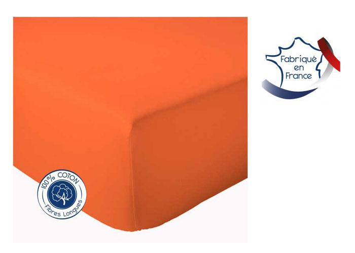 drap housse coton uni tradilinge pour lit de 140 cm grand bonnet 40 cm. Black Bedroom Furniture Sets. Home Design Ideas