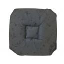 Galette de chaise 37x37 Imprimé faux marbre gris A rabats