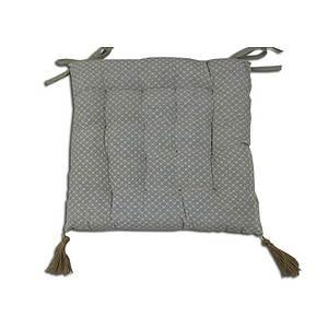 Galette de chaise capitonnée Nélia lin