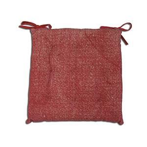 Galette de chaise capitonnée Used rouge