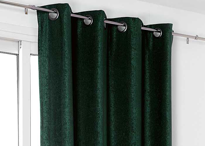 rideau firenze velours uni 140x245 cm pr t poser finition oeillets ronds. Black Bedroom Furniture Sets. Home Design Ideas
