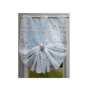Petit rideau HERMIONE blanc et gris