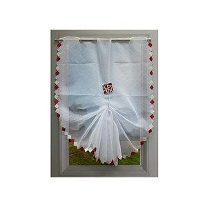 Paire de rideaux vitrage brodé Colombine - Voilage pas cher pour fenêtre