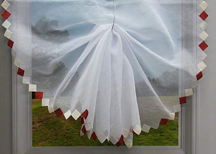 paire de rideaux vitrage brod colombine voilage pas cher pour fen tre. Black Bedroom Furniture Sets. Home Design Ideas