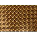 Tissu simili cuir tressage cannage troquet bronze