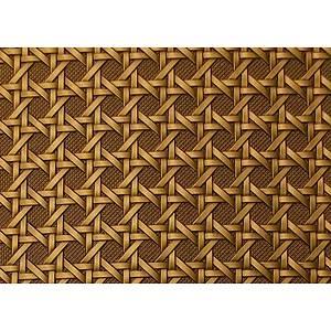 Tissu simili cuir tressage cannage troquet bronze
