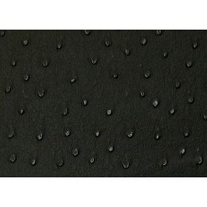 Tissu simili cuir d'autruche noir