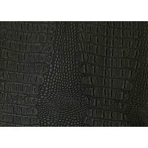 Tissu simili cuir crocodile noir