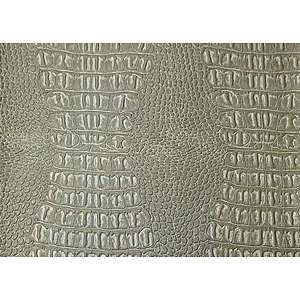 Tissu simili cuir crocodile gris argent