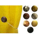 Embrasse magnétique ronde en métal martelé