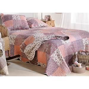 Couvre lit Boutis ZOE rose patchwork romantique