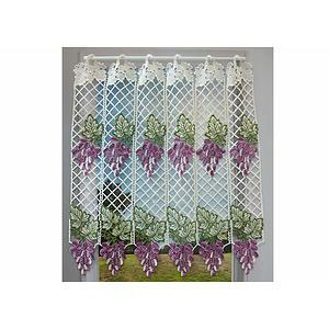 Petit rideau cantonnière macramé motif muscat