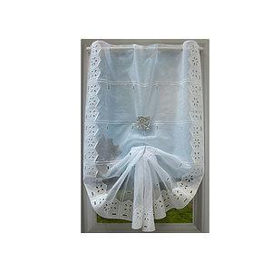 Petit rideau blanc Brimo Fleurs