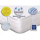 Protège matelas imperméable pvc + coton 240 g/m2 forme plateau