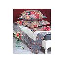 Boutis Jeanne Patchwork motif fleuri