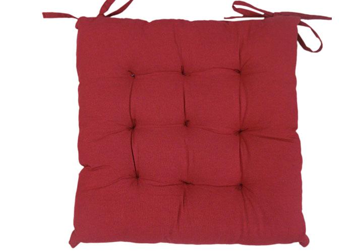 galette de chaise 40x40 cm jute rouge galette de chaise dessous tissu coton - Coussin De Chaise 40x40