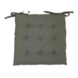 Galette de chaise 40x40 cm jute grise