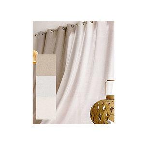 Rideau lin et polyester CHARLOTTE