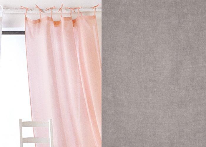 voilage pur lin 140x280 nouettes pr t poser. Black Bedroom Furniture Sets. Home Design Ideas
