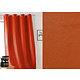 RIdeau JOHN Col.37 orange simili cuir 135x260 prêt à poser à oeillets ronds