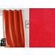 RIdeau JOHN Col.66 rouge simili cuir 135x260 prêt à poser à oeillets ronds