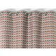 RIdeau SELENA Col.37 orange polyester coton 140x245 prêt à poser oeillets ronds