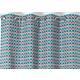 RIdeau SELENA Col.60 rose polyester coton 140x245 prêt à poser oeillets ronds