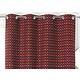 RIdeau SELENA Col.67 rouge polyester coton 140x245 prêt à poser oeillets ronds