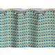 RIdeau SELENA Col.80 bleu polyester coton 140x245 prêt à poser oeillets ronds