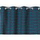 RIdeau SELENA Col.49 turquoise polyester coton 140x245 prêt à poser oeillets ronds