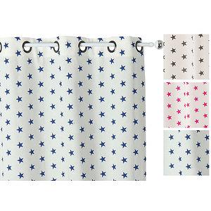 Rideau ETOILES polyester coton 140x240 prêt à poser