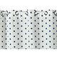 Rideau ETOILES Col.40 bleu polyester coton 140x240 prêt à poser