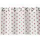 Rideau ETOILES Col.60 rose polyester coton 140x240 prêt à poser