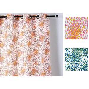 Rideau PAILLETTES polyester coton 140x240 prêt à poser