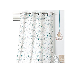 Rideau ISIDORE polyester coton 140x260 prêt à poser