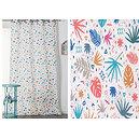 Rideau PALMA polyester coton 140x260 prêt à poser