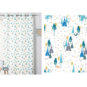 Rideau SIOUX polyester coton 140x260 prêt à poser