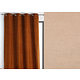 Rideau WALL STREET polyester CoL25 ficelle 145x260 prêt à poser oeillets ronds