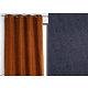 Rideau WALL STREET polyester CoL49 bleu marine 145x260 prêt à poser oeillets ronds