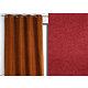 Rideau WALL STREET polyester CoL65 bordeaux 145x260 prêt à poser oeillets ronds
