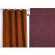 Rideau WALL STREET polyester CoL75 violet 145x260 prêt à poser oeillets ronds